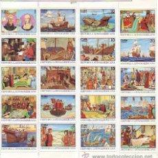 Sellos: CUBA, 1992, 3252/71, BARCOS, DESCUBRIMIENTO. Lote 125861272