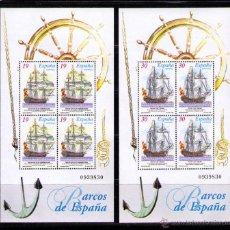 Sellos: ESPAÑA 1995 - BARCOS DE EPOCA VELEROS - EDIFIL Nº 3352-3353 - YVERT BLOCKS 63-64. Lote 210667222