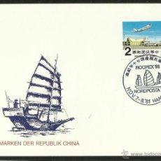 Sellos: CHINA 1981 TARJETA PRIMER DIA DE CIRCULACION BARCOS- VELEROS- ROCPEX 81- NORDPOSTA- FDC . Lote 48866852