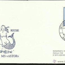 Sellos: ALEMANIA 1981 SOBRE PRIMER DIA DE CIRCULACION BARCOS- VELEROS- SIRENA- ANTARTIDA- FDC. Lote 48866905