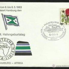 Sellos: ALEMANIA 1983 SOBRE PRIMER DIA DE CIRCULACION BARCOS- VELEROS- FLORA- BANDERAS- FDC. Lote 48866926
