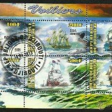Sellos: DJIBOUTI 2013 HOJA BLOQUE SELLOS BARCOS DE NAVEGACION- BOATS- VOILIERS - BARCO - SHIPS- VELEROS. Lote 49025452