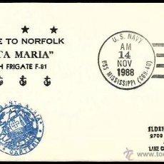 Sellos: ARMADA 1988 FRAGATA SANTA MARIA EN NORFOLK. Lote 7746158