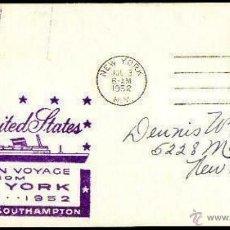 Sellos: VIAJE INAUGURAL TRANSATLANTICO UNITED STATES 1952. Lote 43294442
