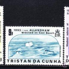 Sellos: TRISTAN DA CUNHA 389/91** - AÑO 1986 - NAUFRAGIOS DE BARCOS ALREDEDOR DE LA ISLA. Lote 118229384