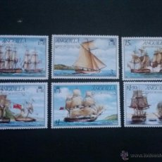 Sellos: ANGUILLA YVERT 226 A 231 ** SERIE COMPLETA BARCOS 1976. Lote 50339958