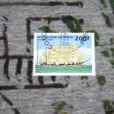 Sellos: SELLOS DE BARCOS - CLIPPER ANGLAIS DE LA COURSE - REPUBLIQUE DU BENIN - POSTES 1996 - NUEVO. Lote 50422946