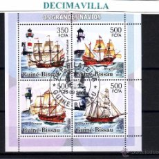 Sellos: L639, GUINEA BISSAU, 2006, BARCOS, VELEROS, FAROS. Lote 53304988