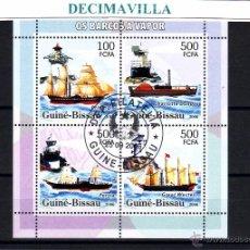 Sellos: L641, GUINEA BISSAU, 2006, BARCOS DE VAPOR, FAROS. Lote 53305042