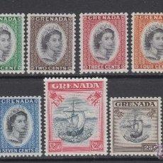 Sellos: GRANADA 162/74** - AÑO 1953 -BARCOS Y REINA ISABEL II - BARCO LA CONCEPCION. Lote 53346162