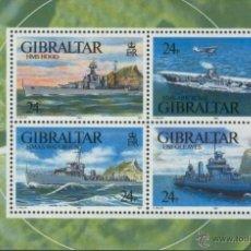 Sellos: GIBRALTAR 1993 NAVIOS DE GUERRA YVERT BF-17**. Lote 53448971