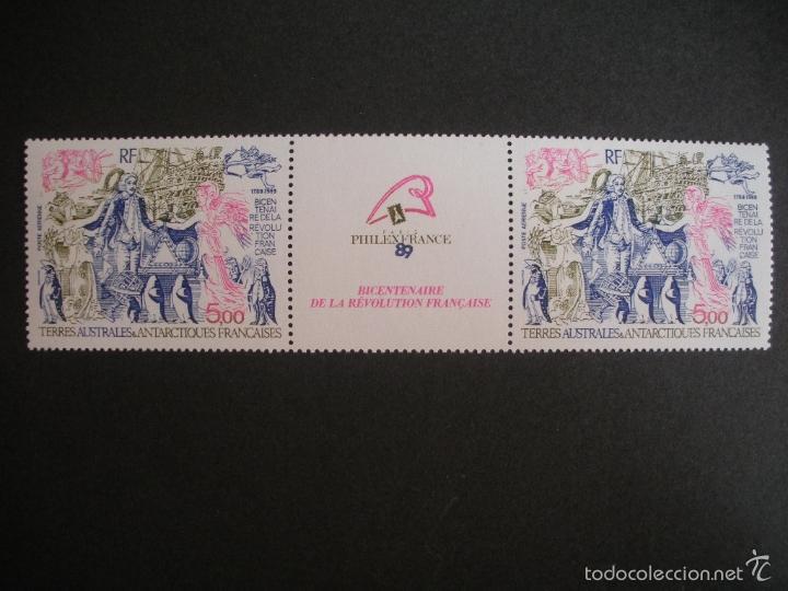 TAAF ANTARTIDA FRANCESA 1989 AEREO IVERT 107A *** BICENTENARIO DE LA REVOLUCIÓN FRANCESA (Sellos - Temáticas - Barcos)
