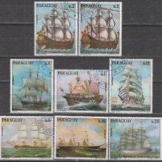 Sellos: PARAGUAY 1685, BARCOS DE VELA, 8 SELLOS USADOS. Lote 56964025