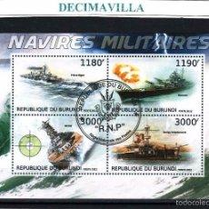 Sellos: L716, BURUNDI, 2012, BARCOS MILITARES. Lote 228568660