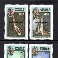 Sellos: BARBUDA 871/74** - AÑO 1987 - BARCOS - COPA AMERICA DE VELA. Lote 60902179