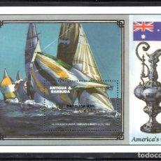 Sellos: BARBUDA HB 113** - AÑO 1987 - BARCOS - AMERICA´S CUP - AUSTRALIA II. Lote 68277885
