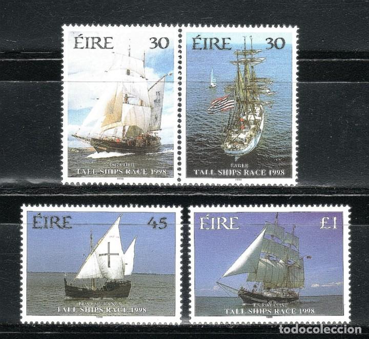 SELLOS BARCOS IRLANDA 1998 1089/92 4V. TALL SHIPS RACE 1998 (Sellos - Temáticas - Barcos)
