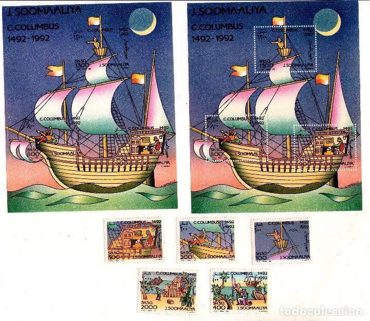 SOMALIA 394-398 + HB26 Y HB26A NUEVA (CRISTOBAL COLON) (Sellos - Temáticas - Barcos)