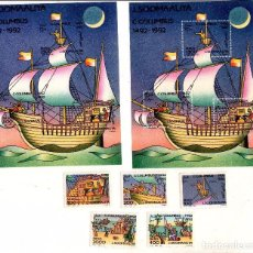 Sellos: SOMALIA 394-398 + HB26 Y HB26A NUEVA (CRISTOBAL COLON). Lote 73711491