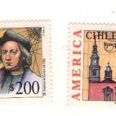 Sellos: CHILE UPAEP´92. (CRISTOBAL COLON). Lote 183573672