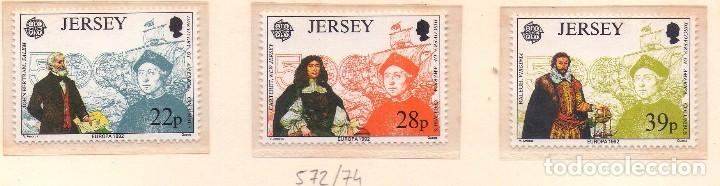 Sellos: JERSEY 572-74, EUROPA´92. CRISTOBAL COLON. - Foto 1 - 75940807