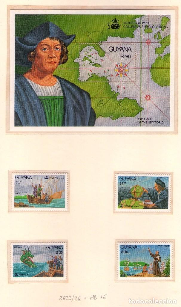 GUYANA 2623-26 Y HB76. CRISTOBAL COLON Y REYES CATOLICOS. (Sellos - Temáticas - Barcos)