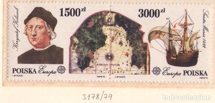 POLONIA 3178-79. (NUEVO, REVERSO SIN COLA) CRISTOBAL COLON. (Sellos - Temáticas - Barcos)