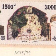 Sellos: POLONIA 3178-79. (NUEVO, REVERSO SIN COLA) CRISTOBAL COLON.. Lote 83982111