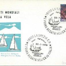 Sellos: 1978.ITALIA/ITALY. LA SPEZIA. MATASELLOS/POSTMARK. CENTº BOTADURA DANDOLO. REGATA DE VELA. SAILING.. Lote 109695307