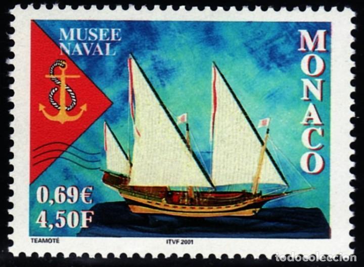 SELLOS BARCOS MONACO 2001 2304 MUSEO NAVAL 1V. (Sellos - Temáticas - Barcos)