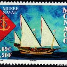 Sellos: SELLOS BARCOS MONACO 2001 2304 MUSEO NAVAL 1V.. Lote 110246707