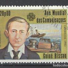 Sellos: BARCOS / GUINEA-BISSAU - SELLO USADO. Lote 117931967