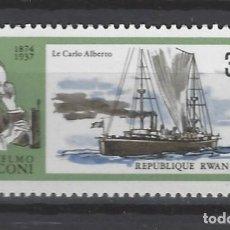 Sellos: BARCOS / RUANDA - SELLO NUEVO. Lote 118395371