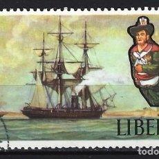 Sellos: BARCOS / LIBERÍA - SELLO USADO. Lote 118397699