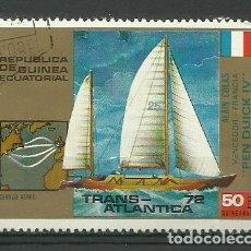 Sellos: REPUBLICA GUINEA ECUATORIAL- BARCOS- SELLO USADO. Lote 118583795