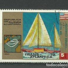Sellos: REPUBLICA GUINEA ECUATORIAL- BARCOS- SELLO USADO. Lote 118585047