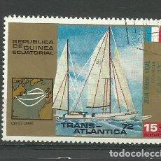 Sellos: REPUBLICA GUINEA ECUATORIAL- BARCOS- SELLO USADO. Lote 118585159