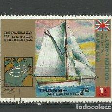 Sellos: REPUBLICA GUINEA ECUATORIAL- BARCOS- SELLO USADO. Lote 118585215