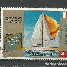 Sellos: REPUBLICA GUINEA ECUATORIAL- BARCOS- SELLO USADO. Lote 118585259