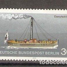 Sellos: ALEMANIA BERLIN. 1975. MI, Nº 483. BARCO. Lote 118639511