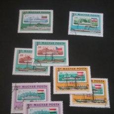 Sellos: SELLOS HUNGRÍA (MAGYAR POSTA) MTDOS. 1981.DANUBIO. BARCOS. TRASPORTE. RIO. SELLOS. BANDERAS.S/SVAPOR. Lote 121508060