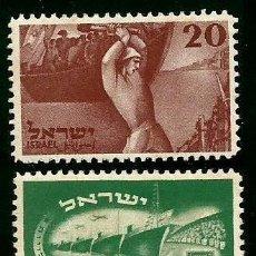 Sellos: ISRAEL 1950 YVERT 29/30 **. Lote 122094515