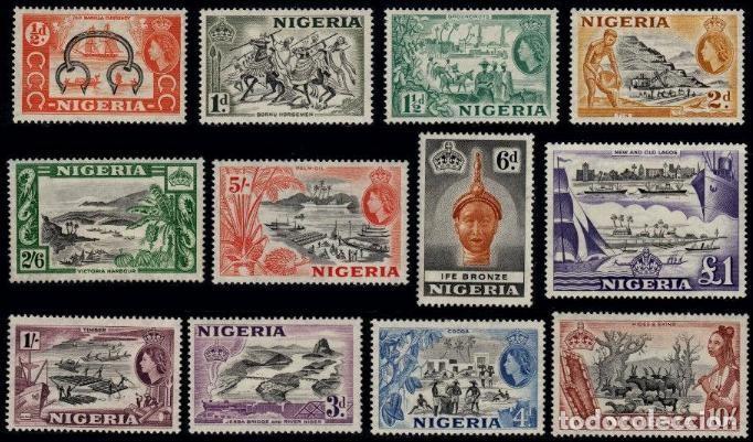 NIGERIA 1953 (Sellos - Temáticas - Barcos)