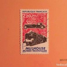 Sellos: FRANCIA 1986 - TRENES - COCHE DE EPOCA - MULHOUSE.. Lote 128140891