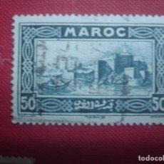 Sellos: MARRUECOS FRANCÉS 1933. ALCAZABA DE LOS UDAYAS, RABAT. BOTE DE REMOS. YVERT 139. USADO.. Lote 128391103