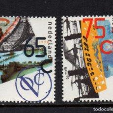 Sellos: HOLANDA 1357/58** - AÑO 1990 - BARCOS DE LA COMPAÑIA DE INDIAS ORIENTALES. Lote 128444683