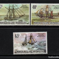 Sellos: NORFOLK 285/87** - AÑO 1982 - BARCOS - NAUFRAGIOS. Lote 128549067