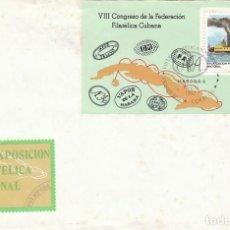 Sellos: CUBA Nº 2711, BUQUE DE VAPOR: ALMENDARES, PRIMER DIA DE 143-11-1982, CON LA HOJA BLOQUE. Lote 128637295