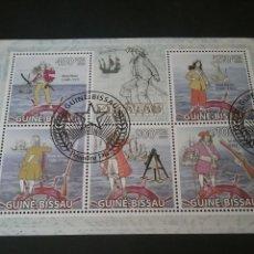 Sellos: MP/SELLOS DE R. GUINEA-BISSAU MATASELLADAS. 2009. PIRATAS. VELEROS. CARABELA. ARMAS. UNIFORMES.. Lote 129354864