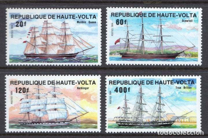 ALTO VOLTA 1984 IVERT 628/31 *** DESARROLLO DE LAS COMUNICACIONES (II) - BARCOS (Sellos - Temáticas - Barcos)